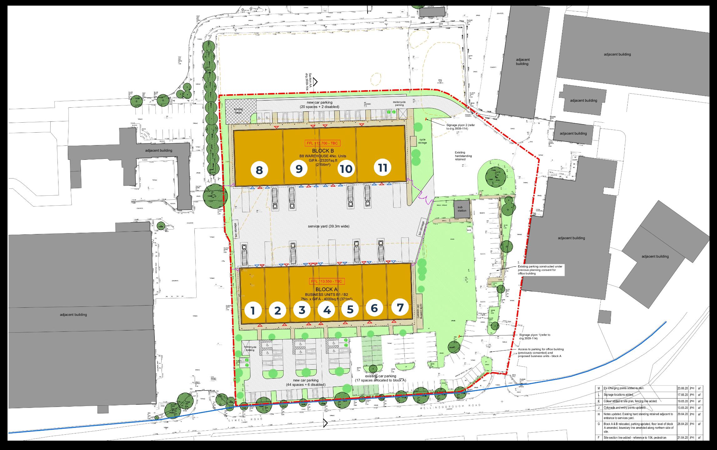 layout of units